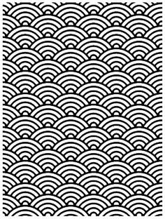 Japanese Wave Tattoo, Backgrounds, Stamps, Design, Japanese Waves, Black