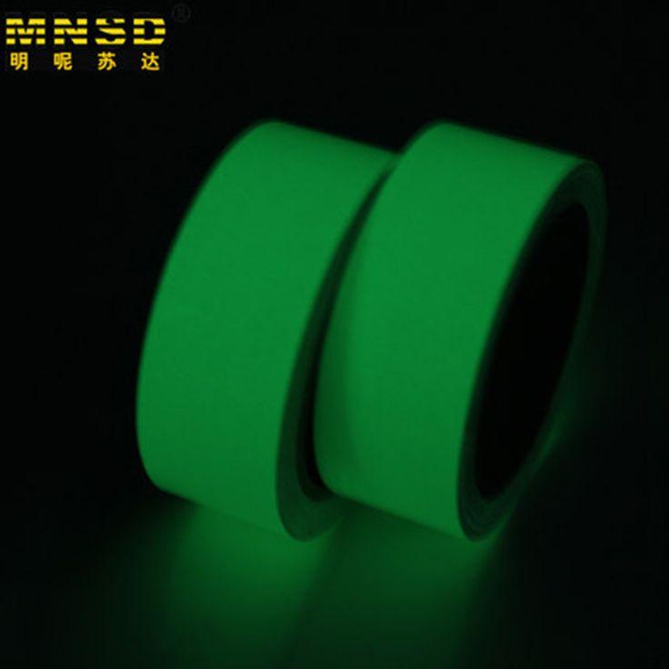 MNDS 10M 50MM Luminous Tape Self-adhesive Warning Tape Night Vision Glow In Dark Safety Security Home Decoration Tapes #CLICK! #clothing, #shoes, #jewelry, #women, #men, #hats