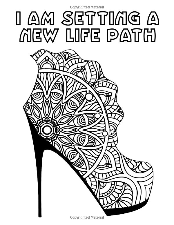170 Best Images About Shoes Coloring Pages For Adults On Pinterest