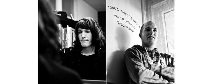 Tweeluik portret travestiet zwart-wit kwetsbaar Eindhoven