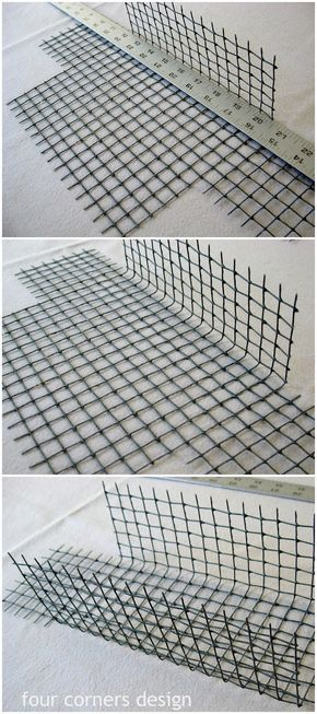 four corners design: Wonderfully wired  Thanks for showing us a way to make our own wire basket.