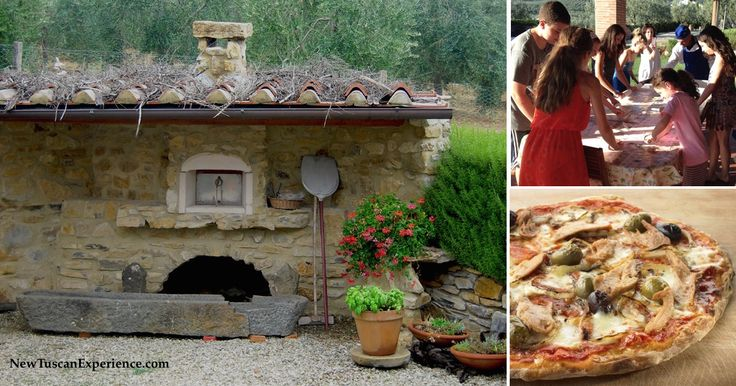 A Villa in Tuscany is the Ideal Setting for a Family Vacation or Reunion - here everyone's making pizza with a private chef!