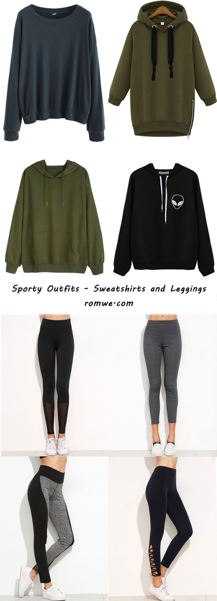 Black Friday Gifts - 60% off oders us$59+,  65% off oders us$109+, 70% off oders us$149+ Sporty Outfits -  Leggings and Plain Sweatshirts from romwe.com