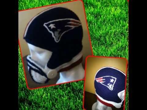 cascos de fútbol americano a crochet