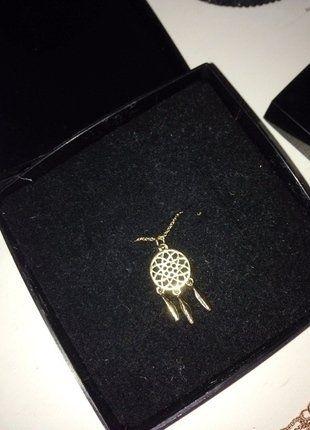 Kaufe meinen Artikel bei #Kleiderkreisel http://www.kleiderkreisel.de/accessoires/ketten-and-anhanger/142372965-gold-kette-traumfanger-anhanger-hippie-boho-elegant-minimal-chic