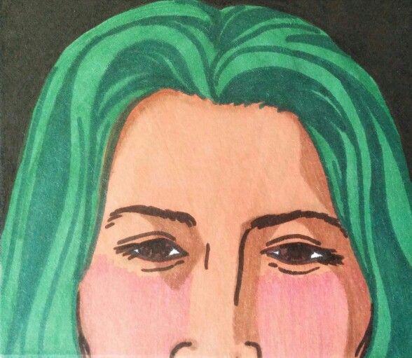 ROYGBIV Series: Green. Sharpie. Nicole Horel.
