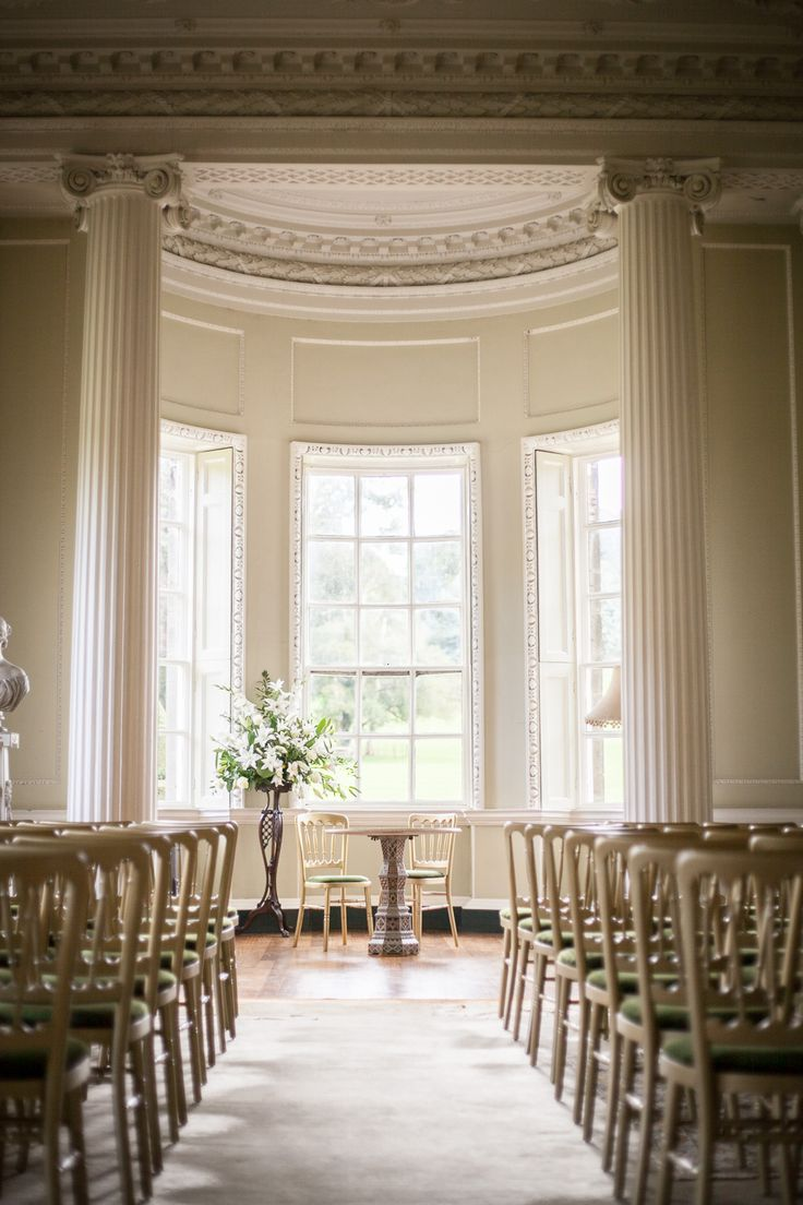budget wedding venues north yorkshire%0A A Jenny Packham  u    Damask u     bridal gown for a wedding at Newburgh Priory with  a peach and grey colour scheme by Rowan Coombs Photography