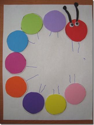 Letter C for Caterpillar art activity