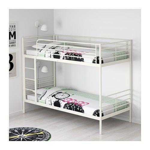 Ikea Letto A Castello Per Bambini.Svarta Struttura Per Letto A Castello Bianco Nel 2019 About A