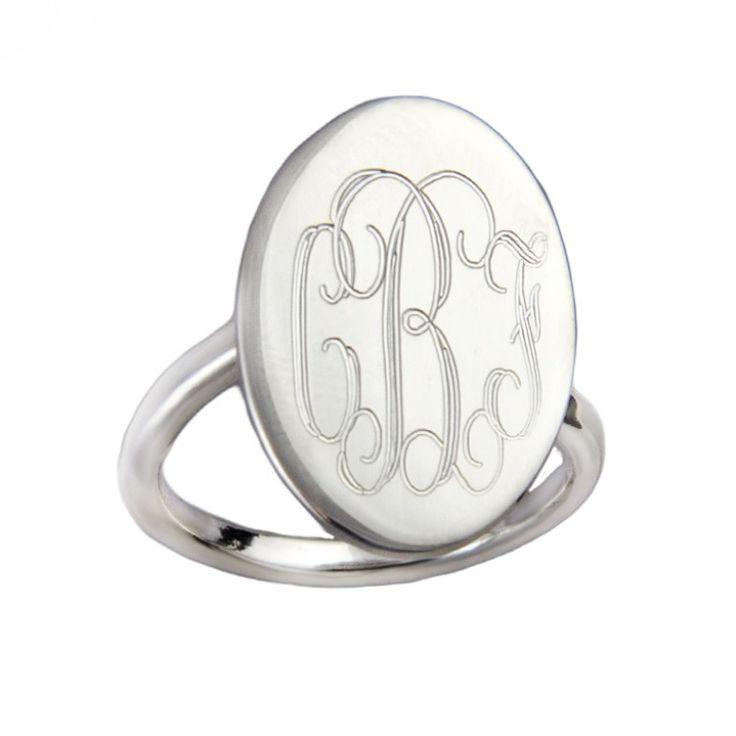 17 best ideas about monogram rings on pinterest
