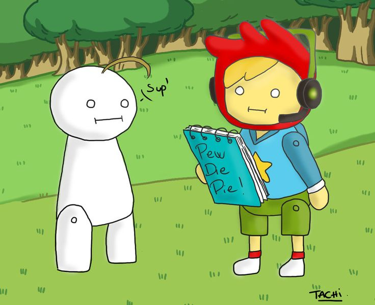 Pewdiepie and Cry - ScribbleNauts by ~Nami-chwann on deviantART