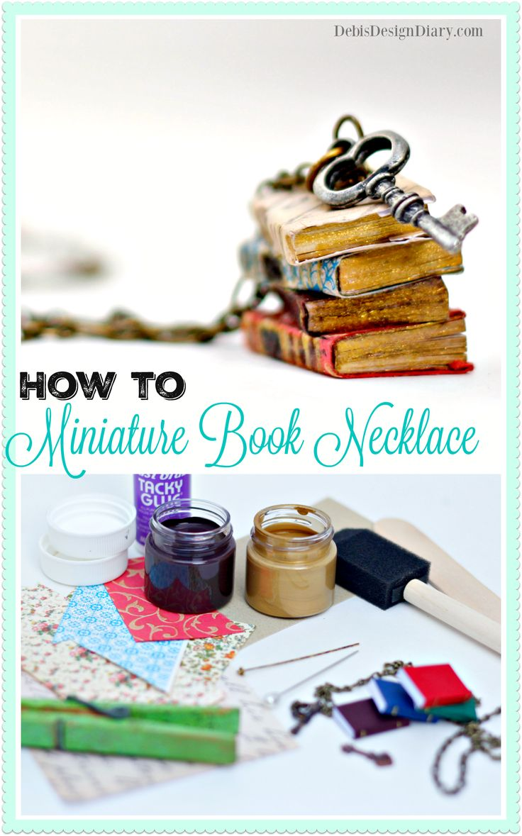 DIY Miniature Book Necklace, Anthropologie knock-off and why I stopped reading.