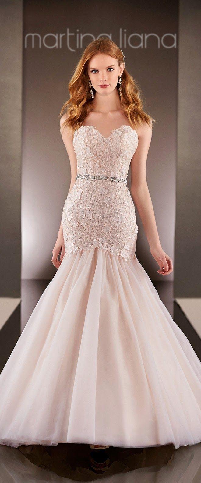 Blush mermaid wedding dress   best Wedding Dresses images on Pinterest  Wedding frocks