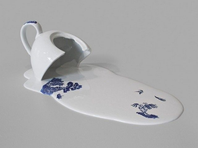 Melting Teacups and Teapots by Livia Marin   Hi-Fructose Magazine