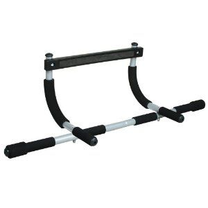Iron Gym Total Upper Body Workout Bar - Can't do pull-ups unassisted... yet, but I use these for knees-to-elbows, jump-pull ups, push-ups and tricep dips.