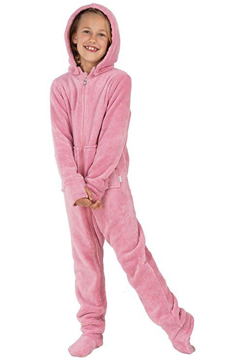 PajamaGram Hoodie-Footie Fleece Zip-Front Onesie Pajamas 5c4a9a049