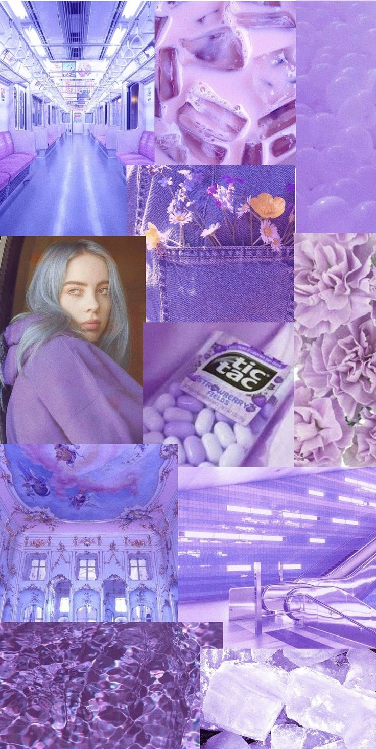 pastellight purple aesthetic billie eilish wallpaper