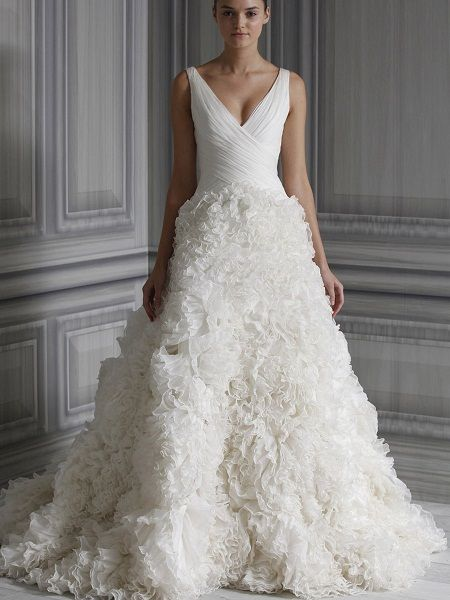 wedding dress necklines for large bust illusion - Google Search