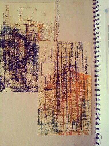 Mono printing sketchbook