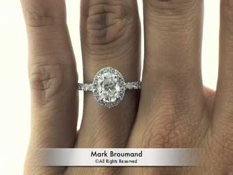 2.46ct Oval Cut Diamond Engagement Anniversary Ring - Mark Broumand, via YouTube.