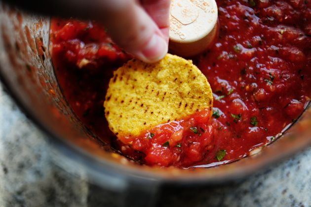 Pioneer Woman Salsa--easy and fantastic: Restaurant Style Salsa, Best Salsa Recipe, Homemade Salsa Recipes, Homemade Restaurant, Styles, Fresh Salsa, Tpw 5318, Food Processor