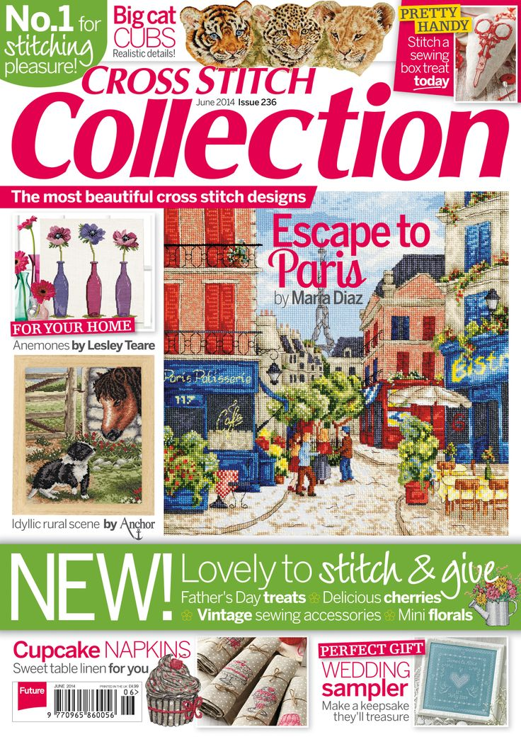 Our new issue of Cross Stitch Collection is out now! Find your copy of the June 236 issue from http://www.myfavouritemagazines.co.uk/stitch-craft/cross-stitch-collection-magazine-subscription/