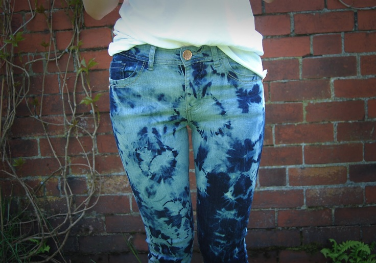 This Fashion Is Mine...: DIY Tie-Dye Jeans