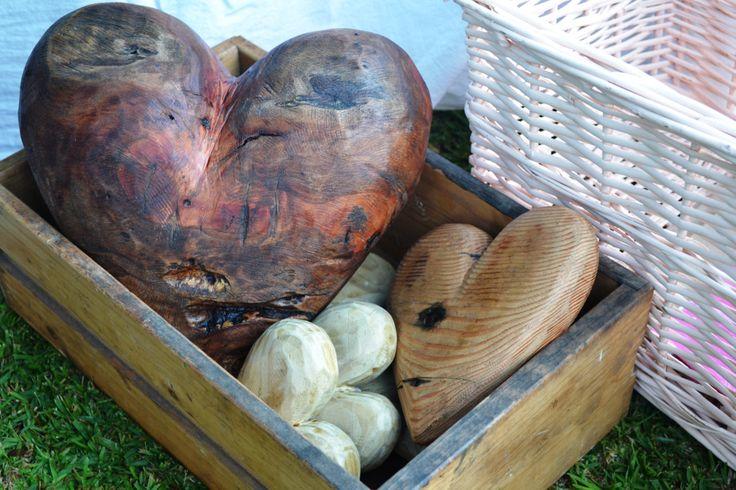 Rustic wooden hearts by Jaap Pieterse