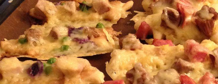 Julepizza med svineribbe