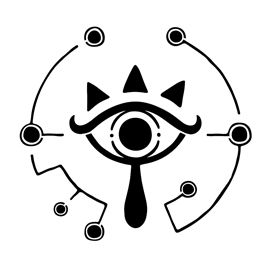 Zelda - Breath of the Wild Sheikah Eye Logo Stencil