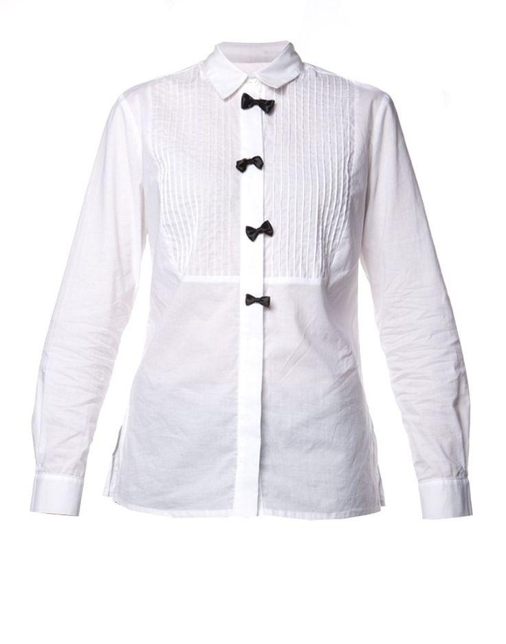 HABITS | Tuxedo Pintuck Shirt - Women - Style36