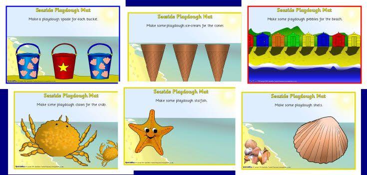 Seaside Playdough Mats