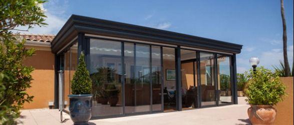 La véranda toiture plate dans l'Hérault (34) - Grandeur Nature