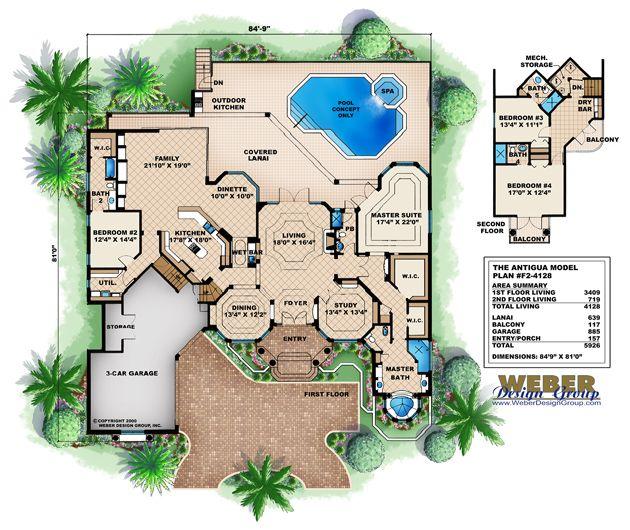 Luxury Mediterranean Style Home Plans: Mediterranean House Plan: 2 Story Mediterranean Tuscan