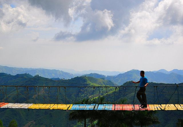 """Island in the Sky"" Hanging Bridge, Cebu, Philippines"