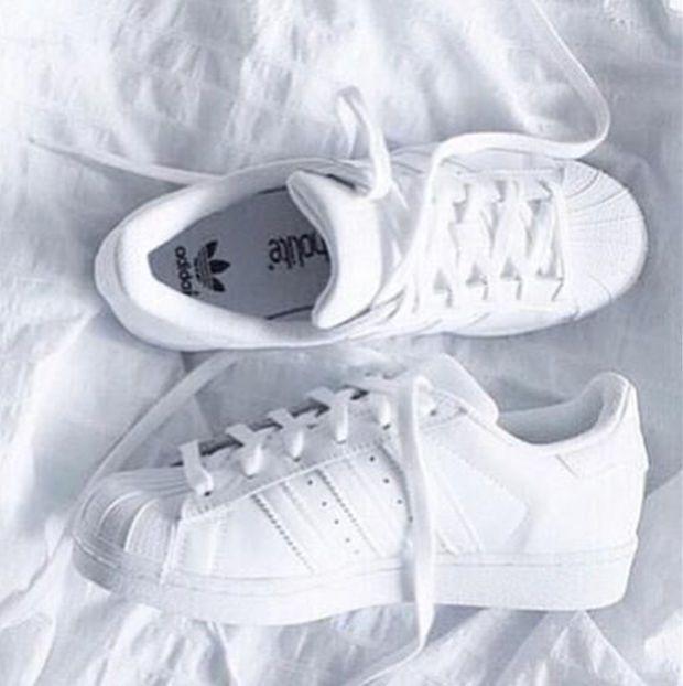 """Adidas"" Fashion Shell-toe Flats Sneakers Sport Shoes Pure White"
