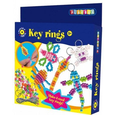 Gioco creativo giocattolo set kit portachiavi bijoux con le perline