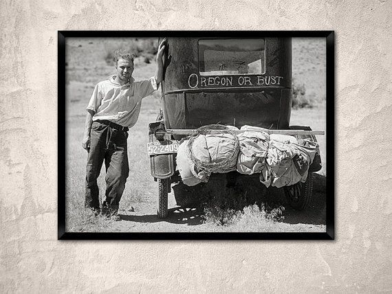 Oregon or bust1936.Migrant worker near Missoula by Chromatone