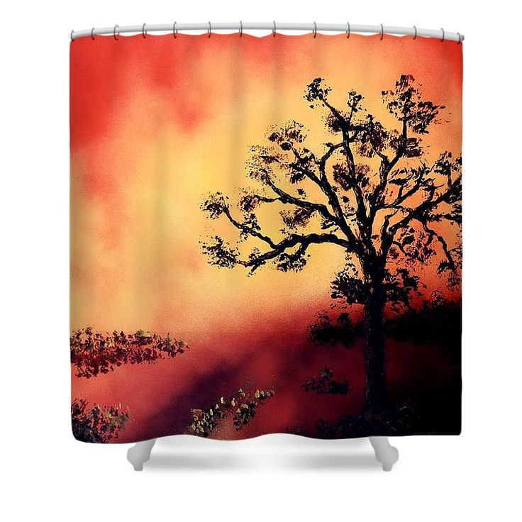 Way To The Light Shower Curtain Printed with Fine Art spray painting image Way To The Light Nandor Molnar (When you visit the Shop, change the background color and image size as you wish)