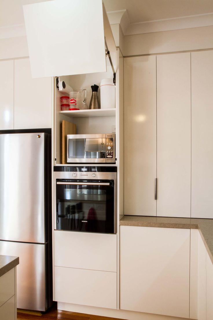 Kitchen cabinet accessories blum - Lift Up Cabinet Hidden Microwave Blum Aventos With Servo Drive Www Hidden Microwavehamptons Kitchenstudio Citybookshelveshardware