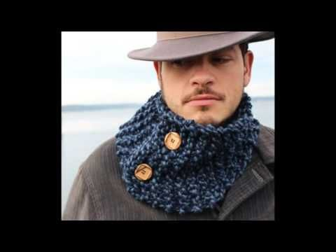 bufanda o cuello de hombre en ganchillo o crochet - YouTube