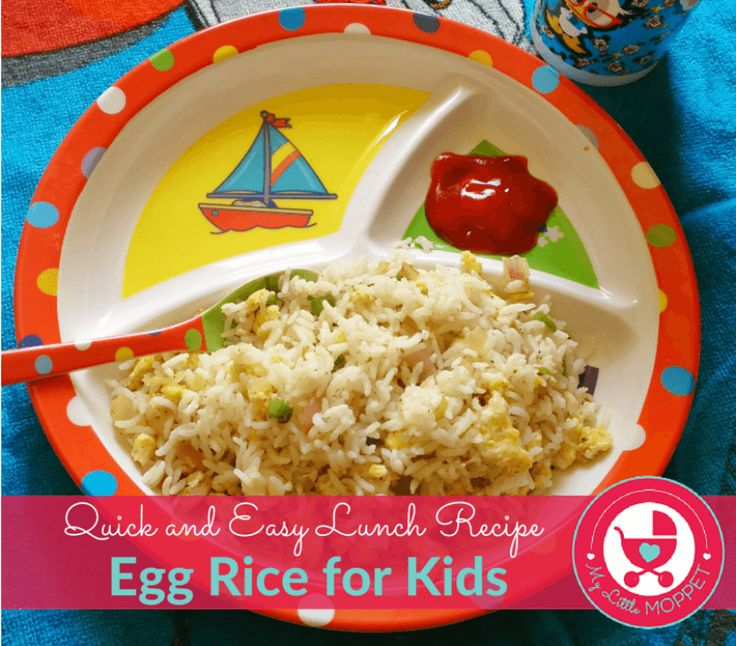 This Egg Rice recipe is a healthy, yummy dish, perfect for rainy days when little tummies need something hearty!