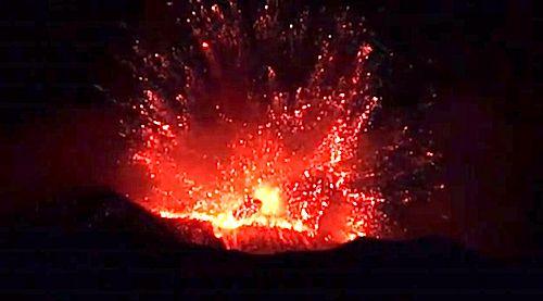 Etna Volcano Erupts, Spewing Ash (Raw Video)