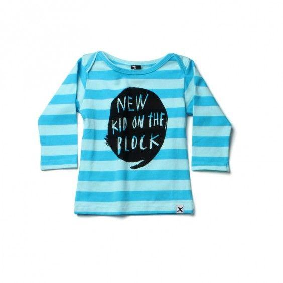 Minti New Kid Envelope Tee - Blue/Blue