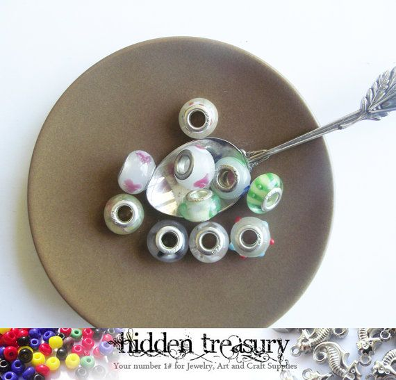 Pandora Style European Spacer Beads 10pc . Fun by HTCandyBeads, $3.80