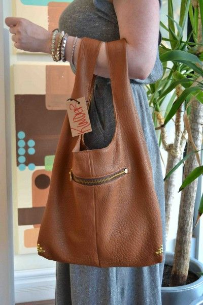 Kimder bags: buttery leather, studded edges and handmade in Edmonton.