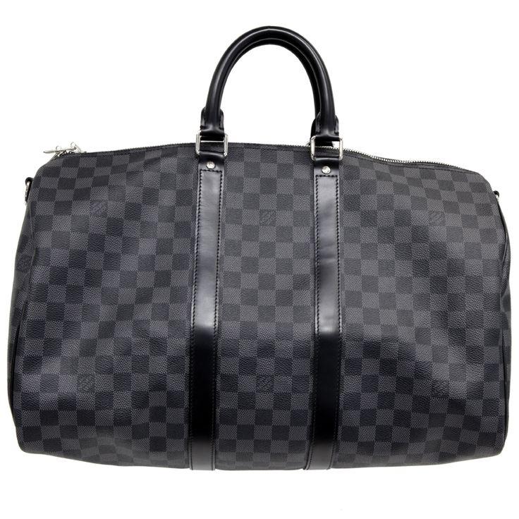 MODASELLE - Louis Vuitton Damier Graphite Keepall Bandouliere 45, CAD $995.00 (http://www.modaselle.com/louis-vuitton-damier-graphite-keepall-bandouliere-45/)
