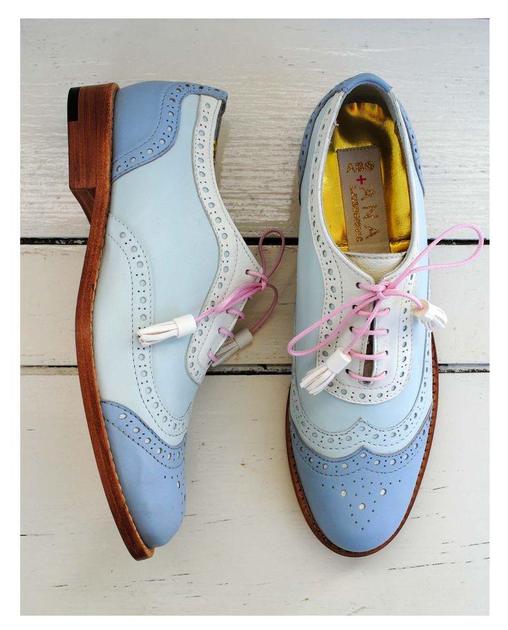 ABO + Ana Ljubinkovic blue brogues #abo #abo+analjubinkovic #shoes #brogues…