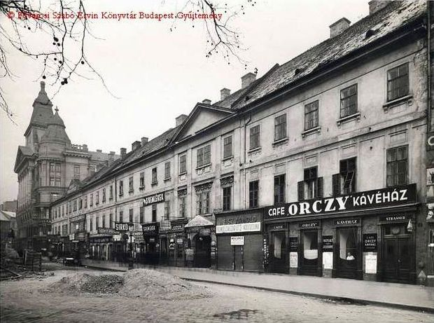 Café Orzcy has the longest history among the Hungarian capital's cafés. Established in 1795 it was open until 1936. The café was also a borse for private teachers such as a well-known leather trading center in Europe