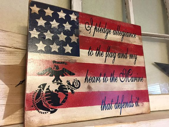 Marine Corps Flag by iSTICKerTHAT on Etsy